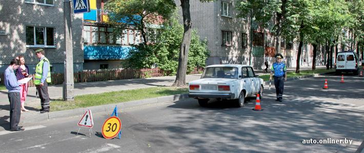 Сотрудник МВД за рулём ВАЗ 2107 совершил наезд на девочку на перекрёстке улиц Карбышева и Будённого