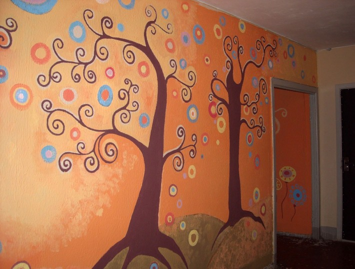 Как разрисовать стены своими руками 87