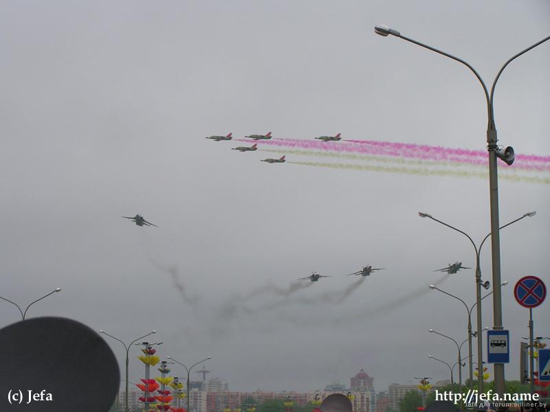 Парад самолетов в Минске