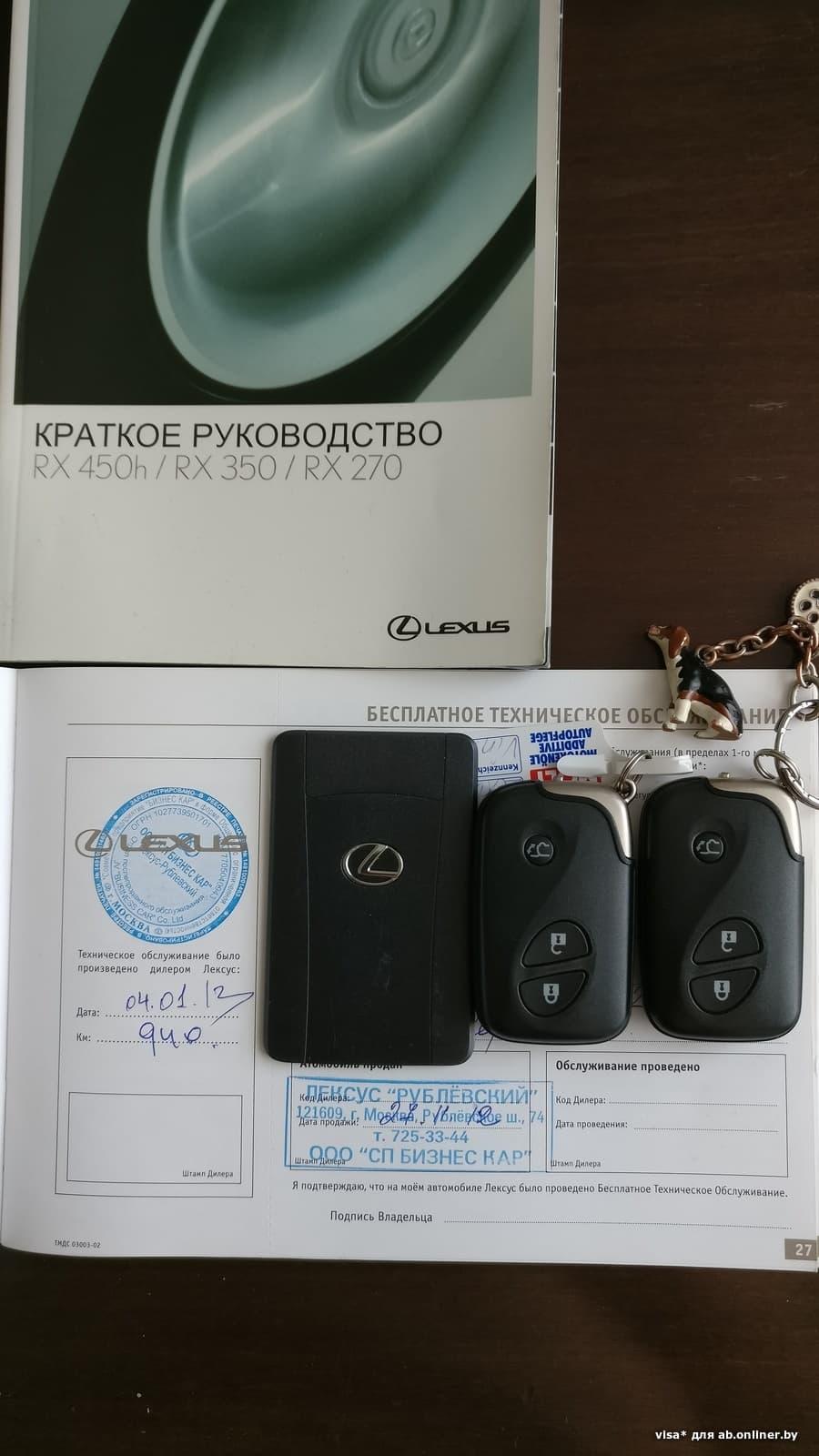Lexus RX 350 Премиум