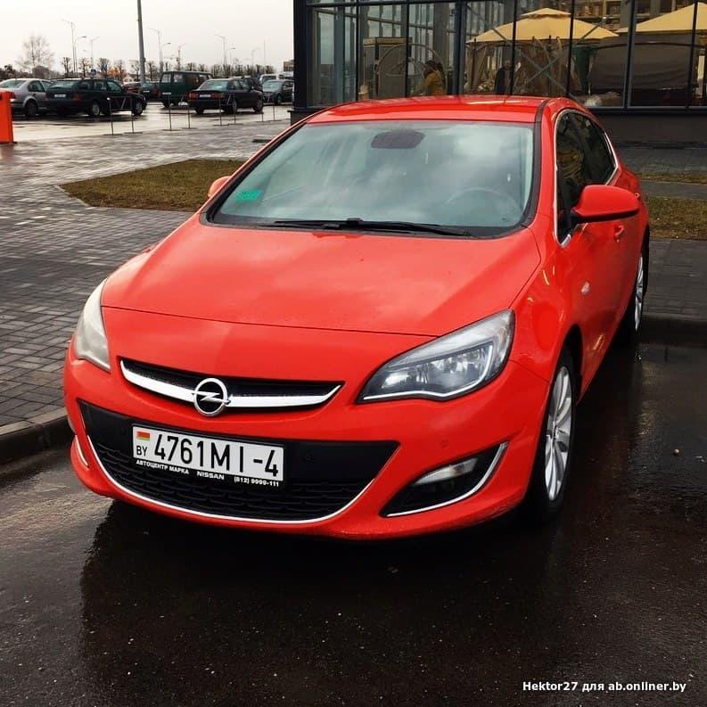 Opel Astra J рестайлинг a16xer
