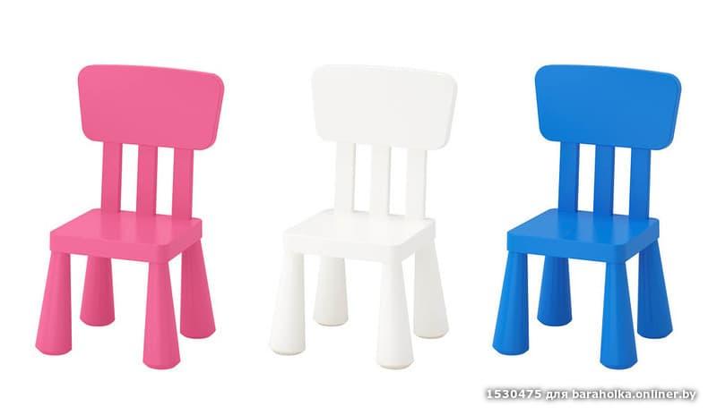 стол и стул детский маммут из икеа Ikea барахолка Onlinerby