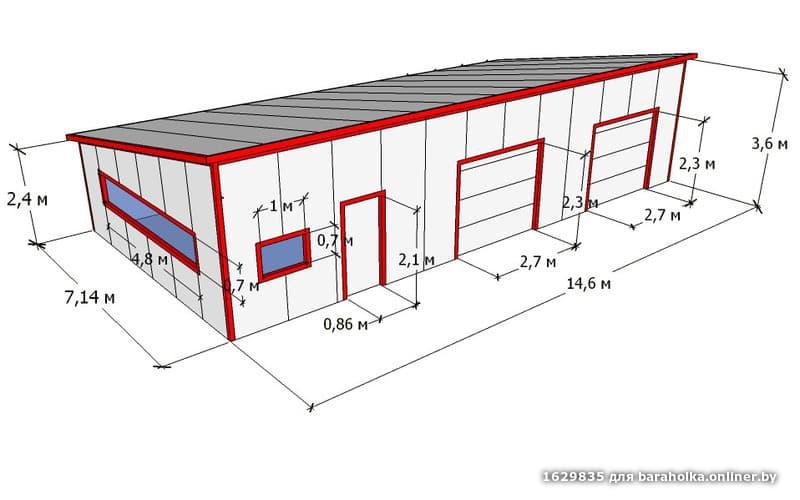 Гараж из сэндвич панелей купить комплект металлический гараж авито новосибирск