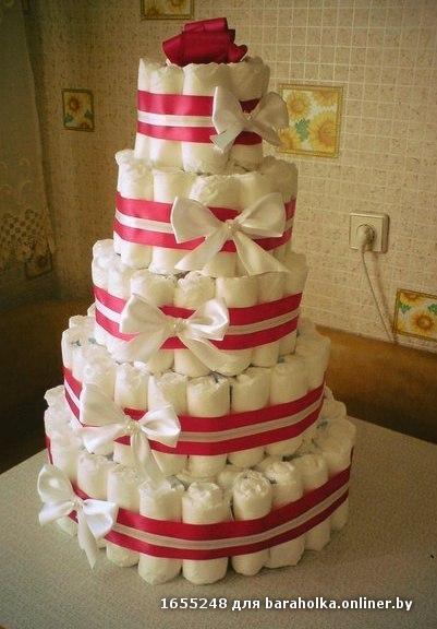 тортики из памперсов фото