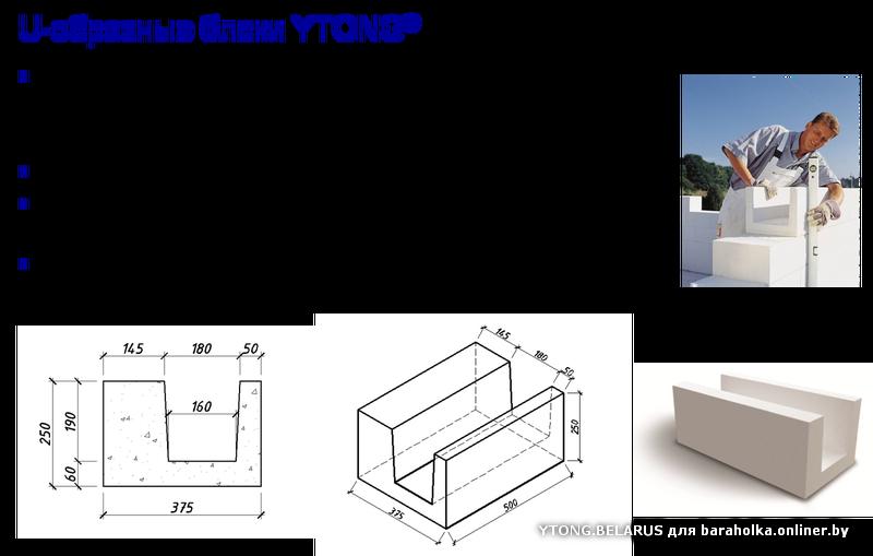 ytong блоки размеры