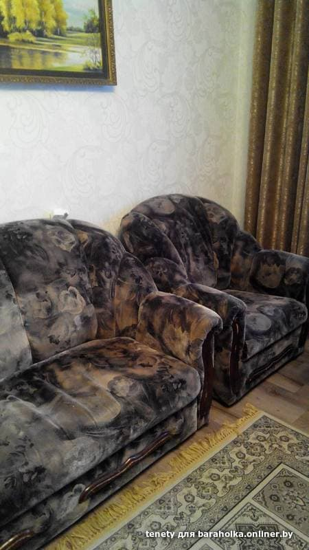 мягкий уголок диван кровать 2 кресла барахолка Onlinerby