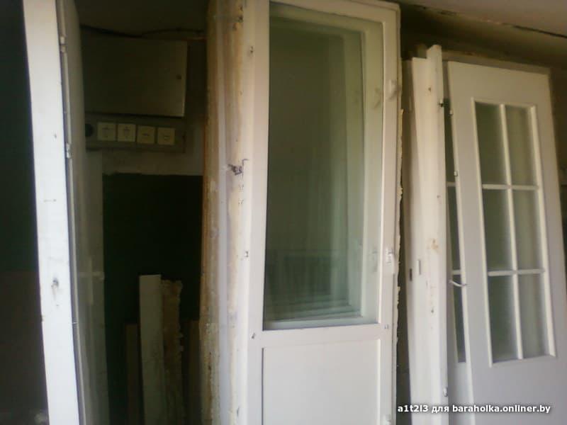 Дверь балконная с коробкой 72х217, из новостройки (7шт) - ба.