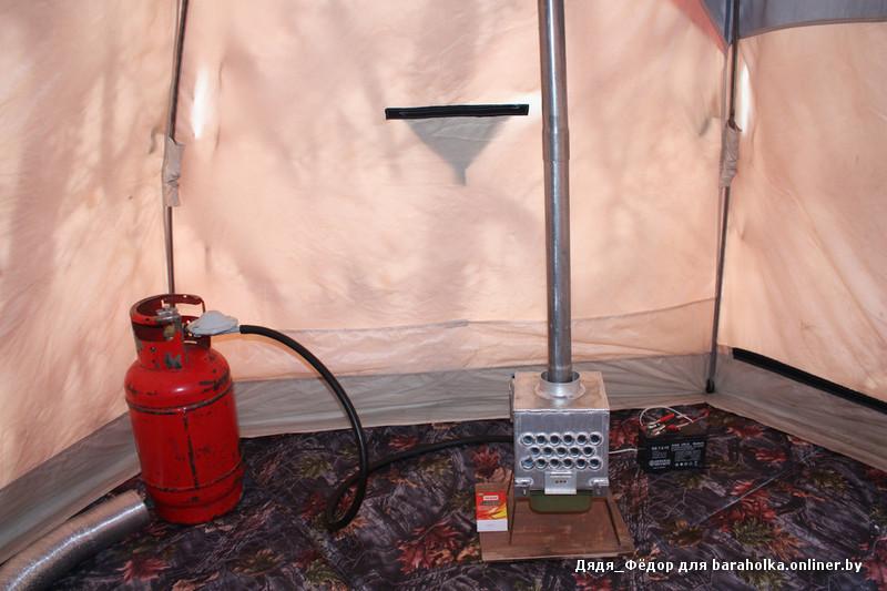 Печка для зимней палатки своими руками