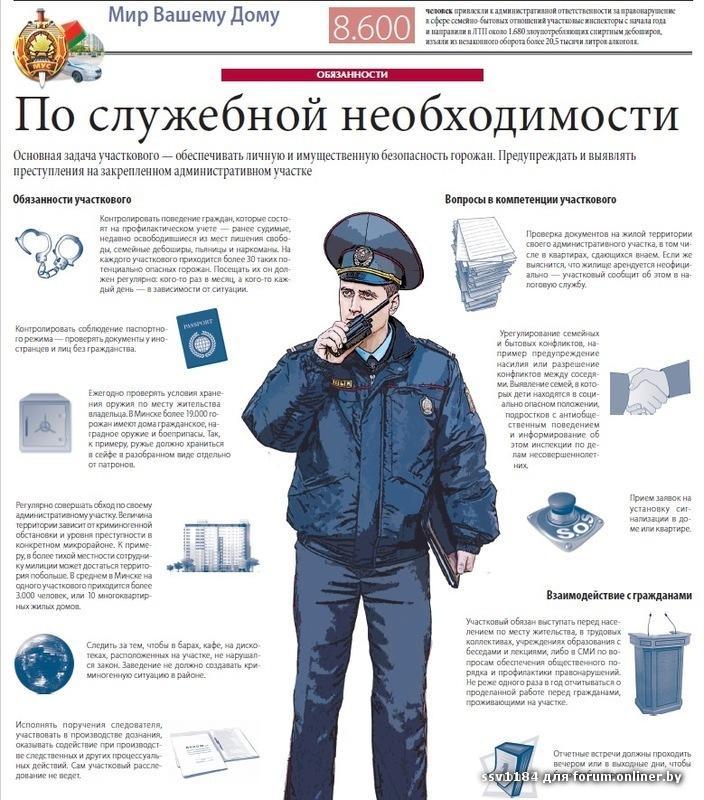 обязанности участкового полицейского
