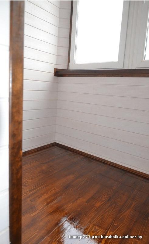 Чем покрасить деревянный пол на балконе.