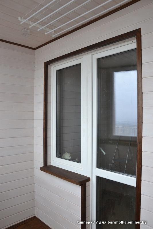 Имитация бруса балкон..