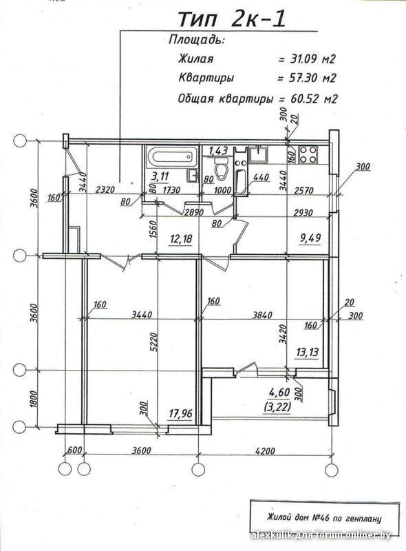 Размер лоджии в панельном доме 12 этажей.