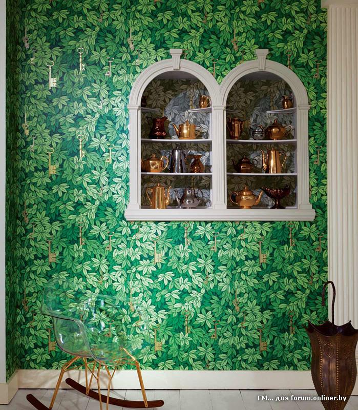 Салатовые обои для стен фото