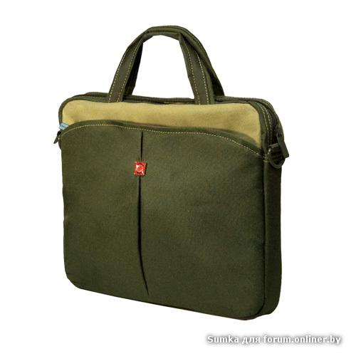 """Сумка для ноутбука Continent CC-013, для 13 """", Зелёная."""