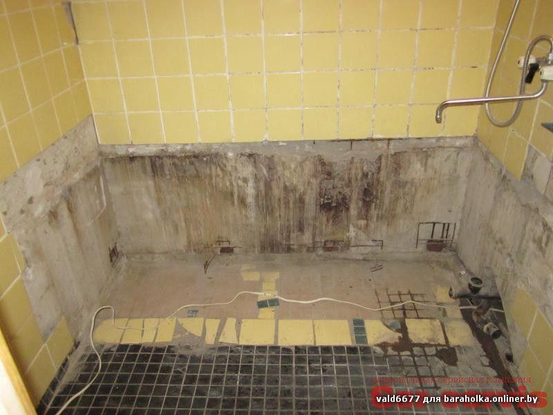 демонтаж старой чугунной ванны в Минске.jpg