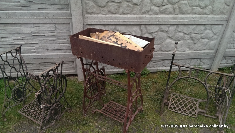 мангал из старой швейной машинки