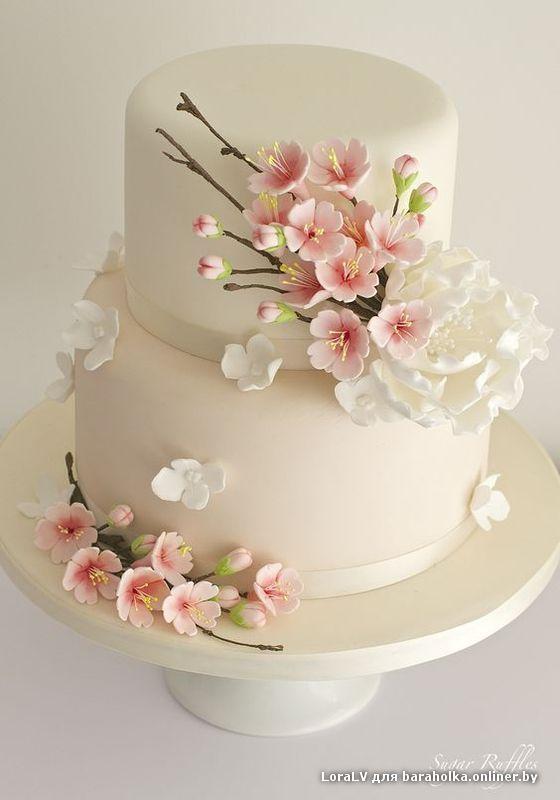 Фото торта простые цветы