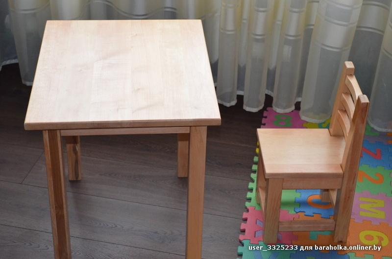 детский стульчик и столик барахолка Onlinerby