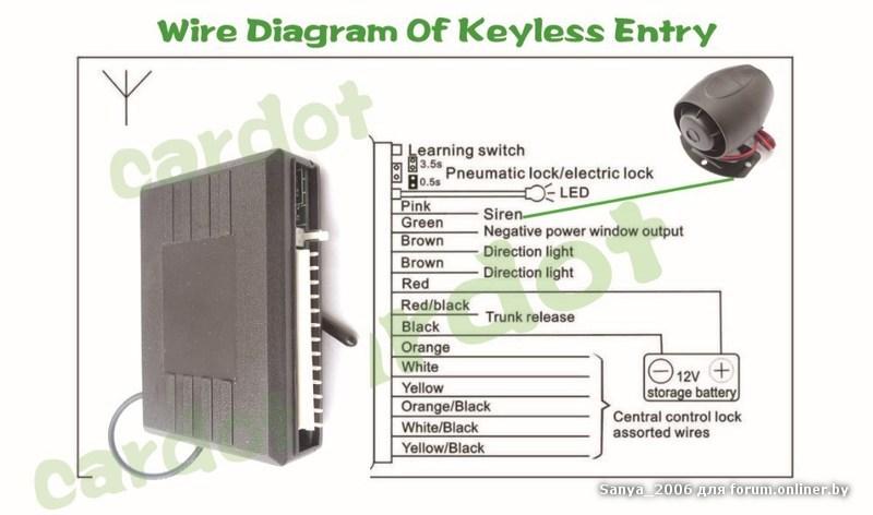 Bighawks keyless entry system схема фото 533