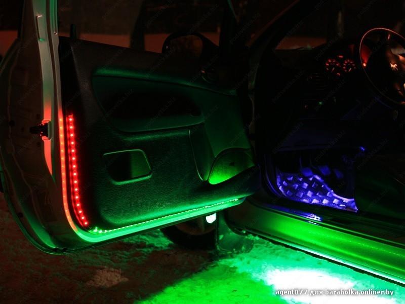 Светодиодные ленты на авто своими руками