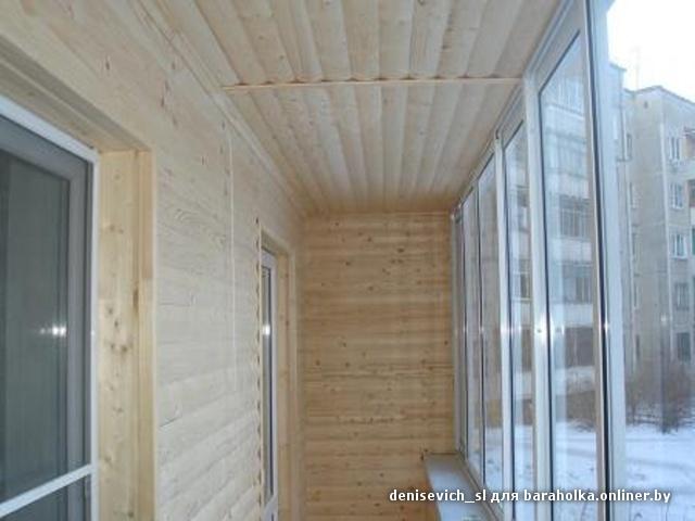 Отделка балкона пластиковый блок хаус фото.