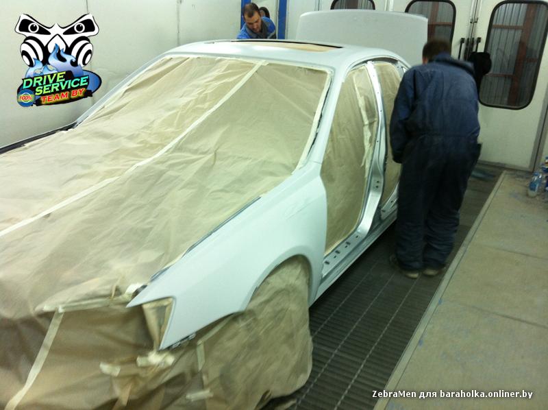 Покраса  авто Subaru с заменой цвета в камере
