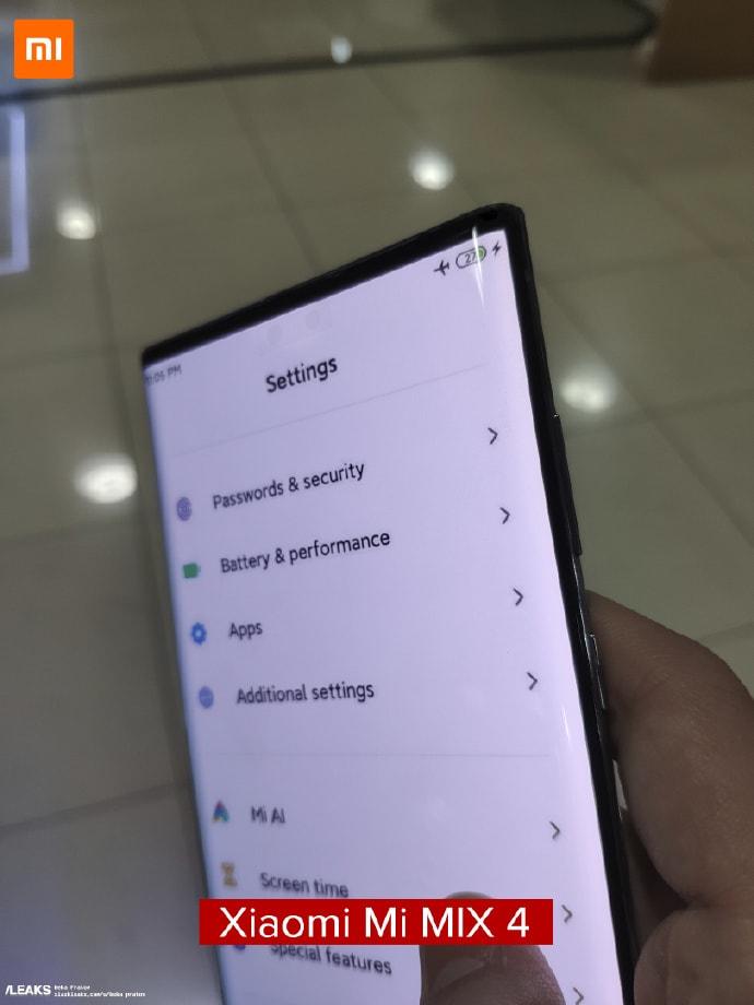 Xiaomi Mi Mix 4'ün İlk Gerçek Görüntüleri Sızdı 1