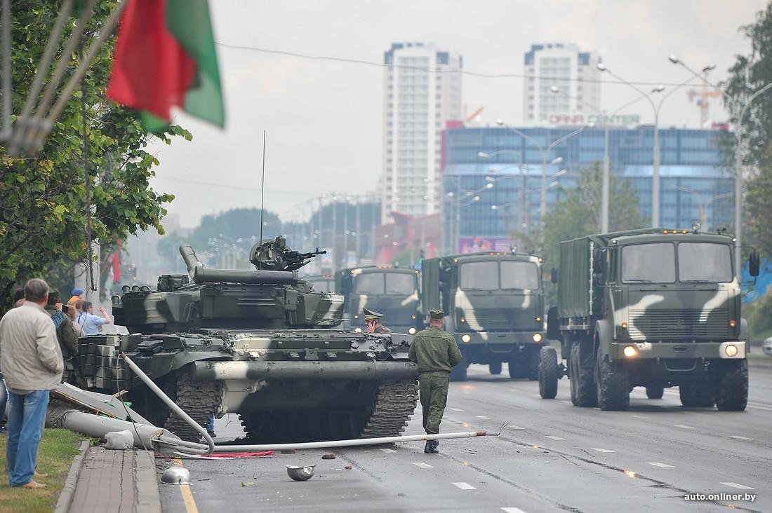 Репетиция военного парада в Минске