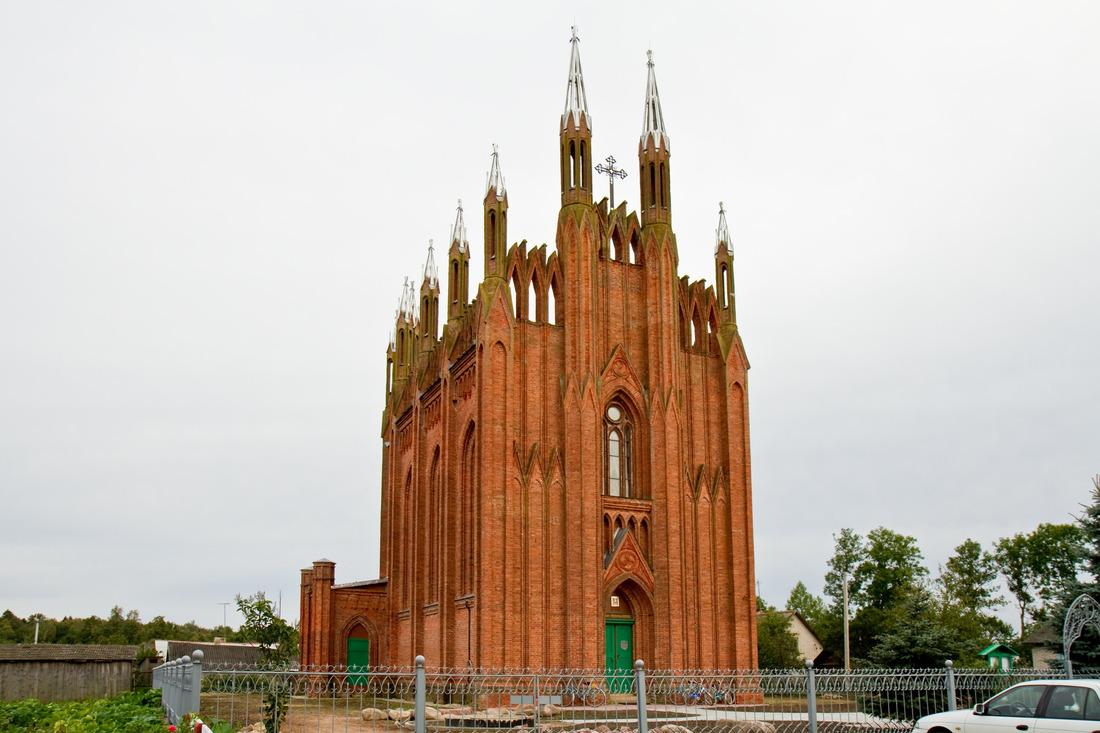 Visiter le bélarus Église néogothique non loin de Polatsk