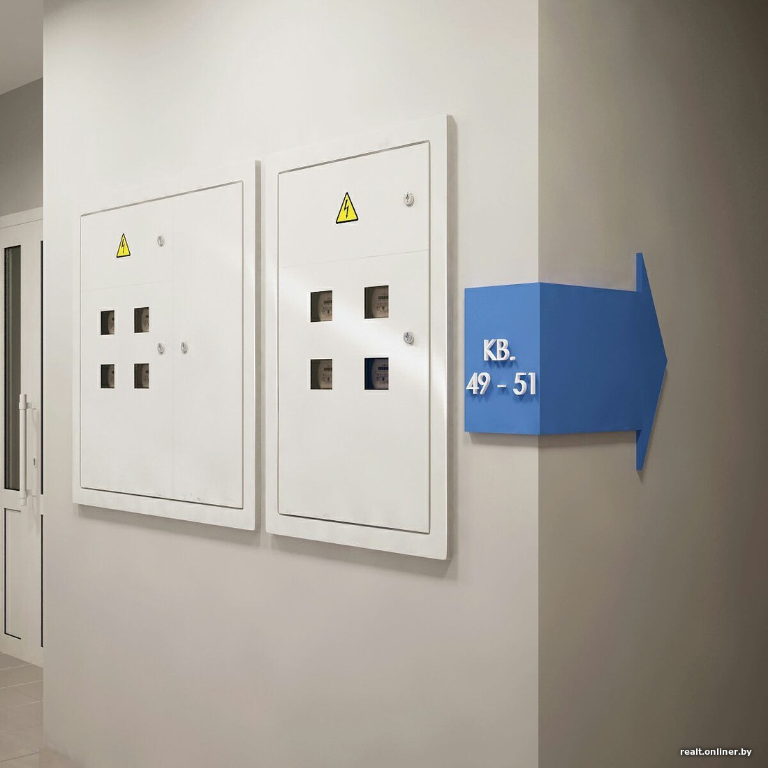Интерьер жилого комплекса. Дизайн подъезда в ЖК Браславский