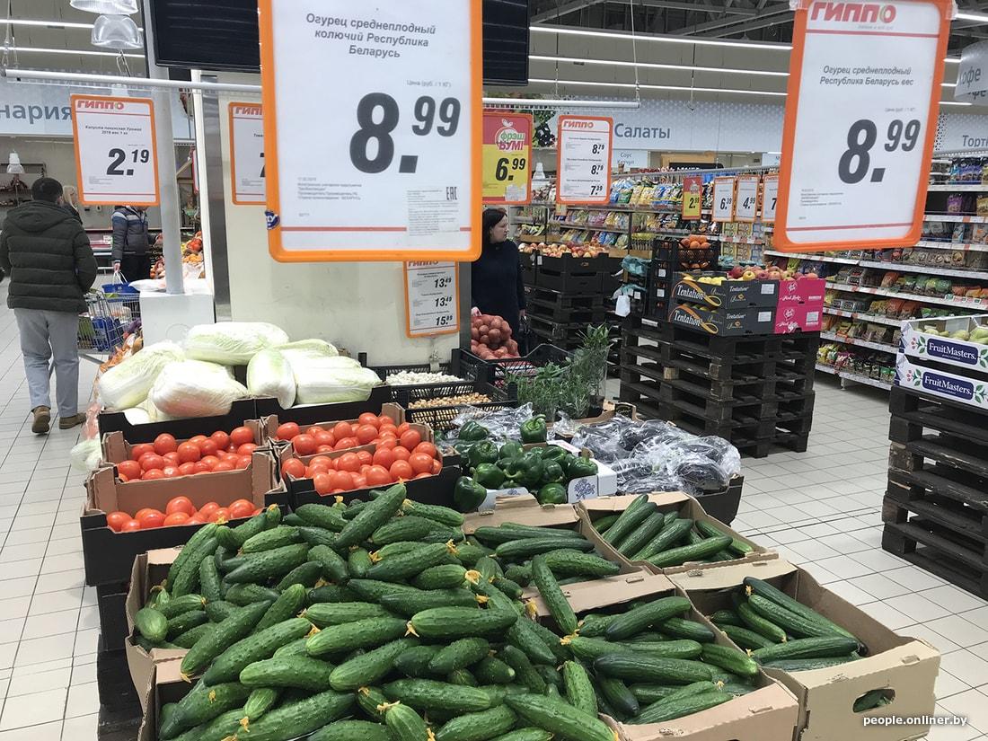 Фотофакт из Минска: огурец по цене свинины. И это после того, как он подешевел