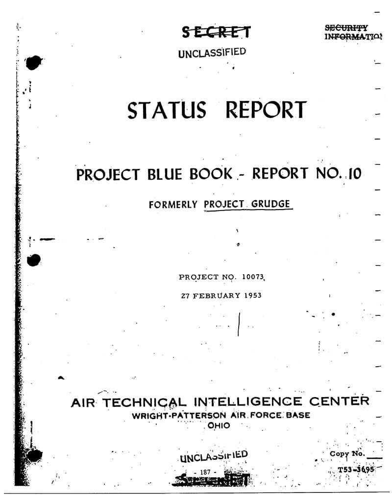История программы «Синяя книга» по изучению НЛО в США. Проекты Sign, Grudge и Синяя (голубая) книга 7dbdf79a6a0dc5e981bbac1bfa8c0d0a