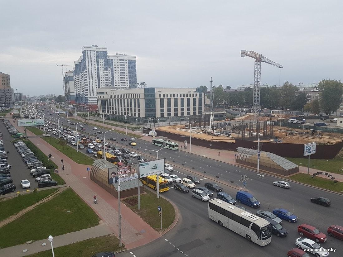 В Минске были нетипичные пробки. Самая большая — на проспекте Дзержинского