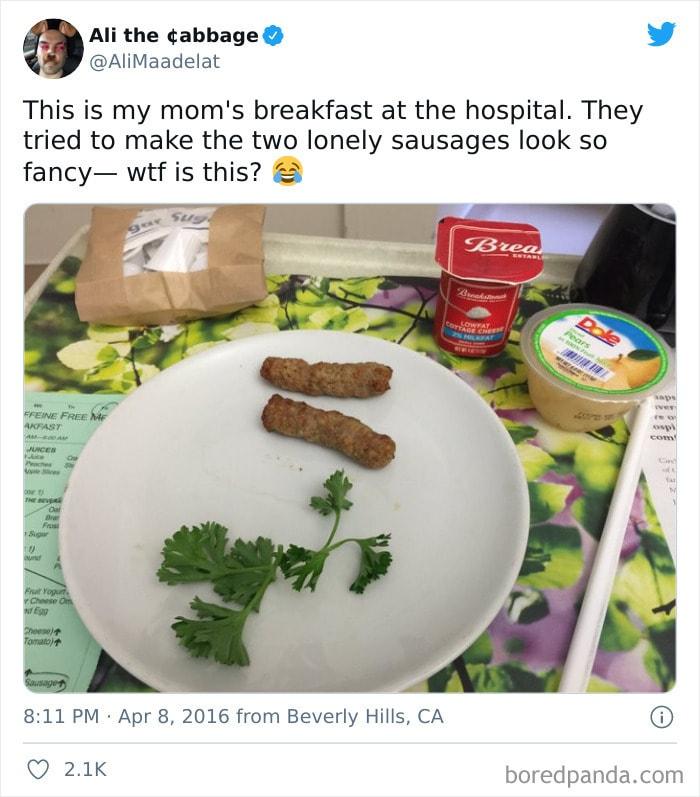 Посмотрите, чем кормят в столовых иностранных больниц