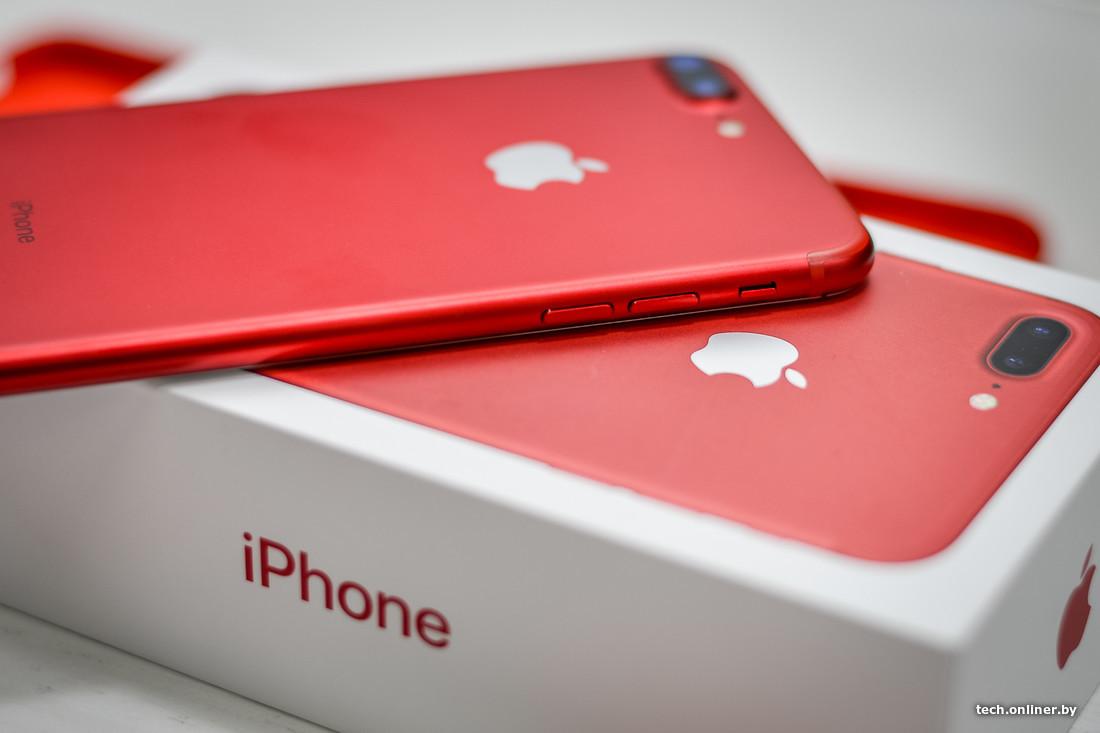 Картинки по запросу красный iphone 7 обзор