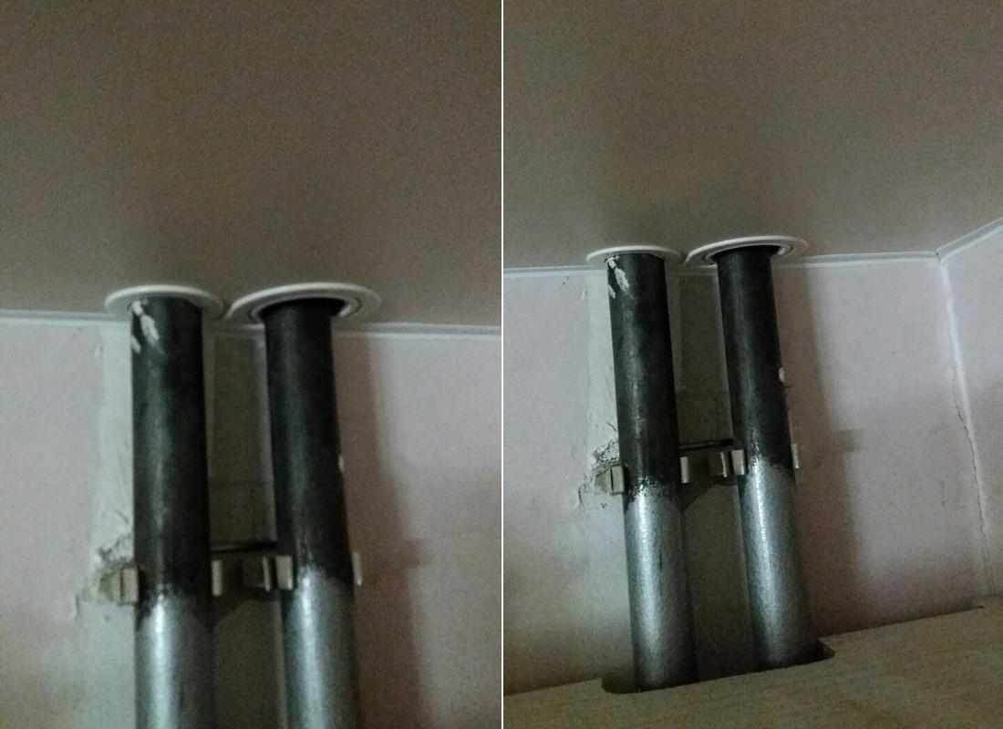 Кольца для обхода труб в натяжном потолке