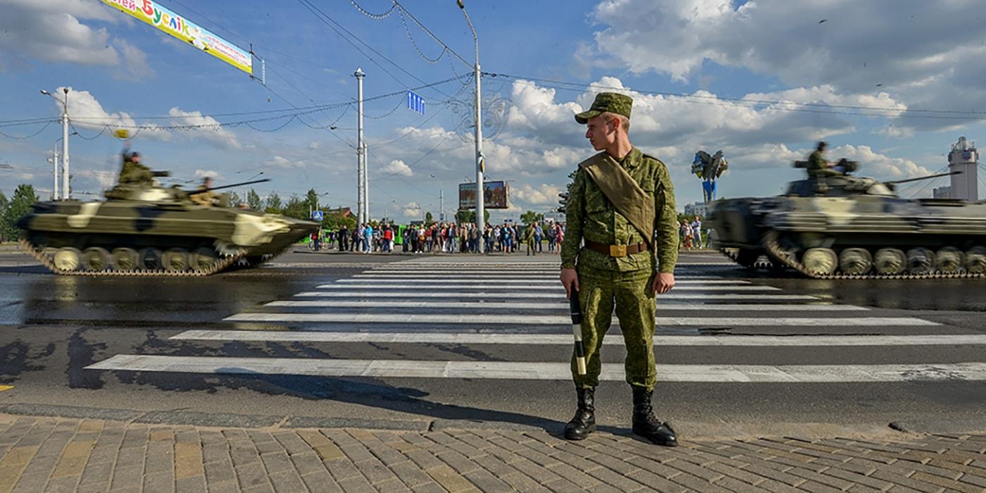 Тренировка парада: завтра по Минску проедет военная техника. Маршрут следования