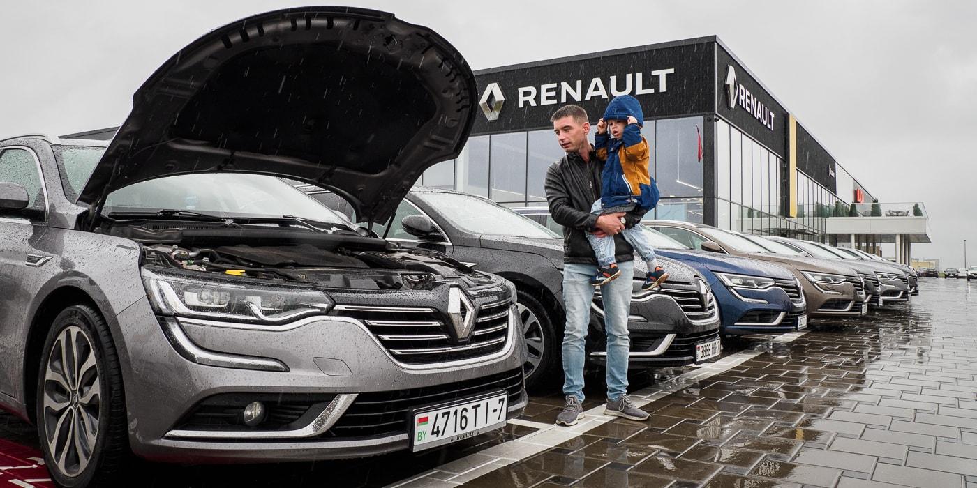 Владельцы Renault Talisman приехали к минскому официалу с вопросами