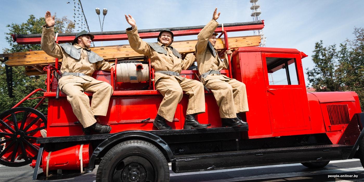 Фоторепортаж: в Минске празднуют 165-летие пожарной службы Беларуси
