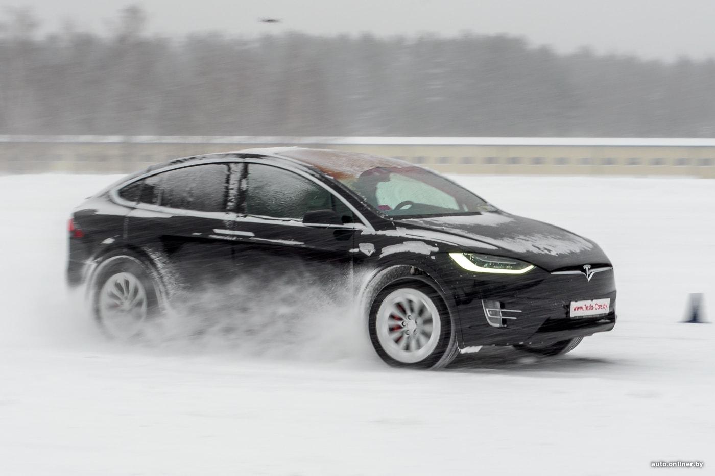 автомобиль тесла аккумуляторы мороз зима