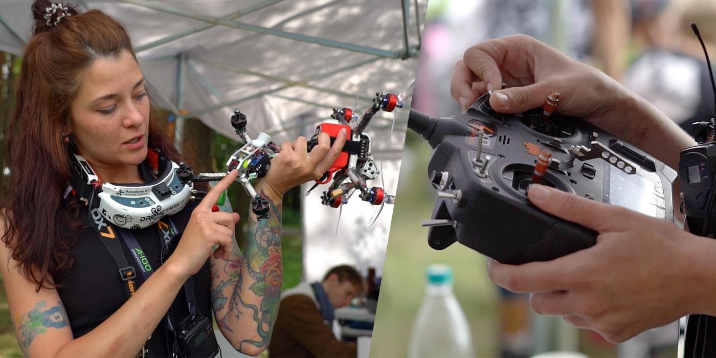 «Вход в хобби — штука баксов». Под Минском прошли первые для страны международные гонки на дронах (видео)