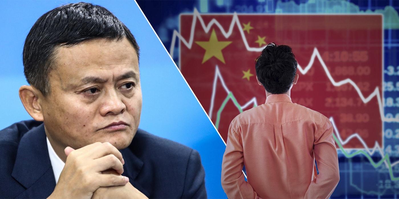 $1 000 000 000 000 в минусе. Китай ставит на место своих технологических гигантов