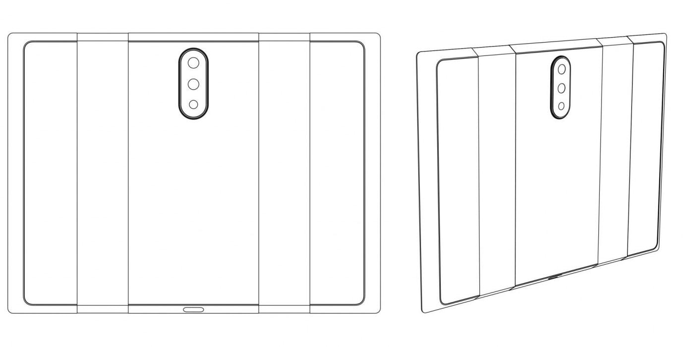 Xiaomi запатентовала трехсегментный смартфон с тройной камерой