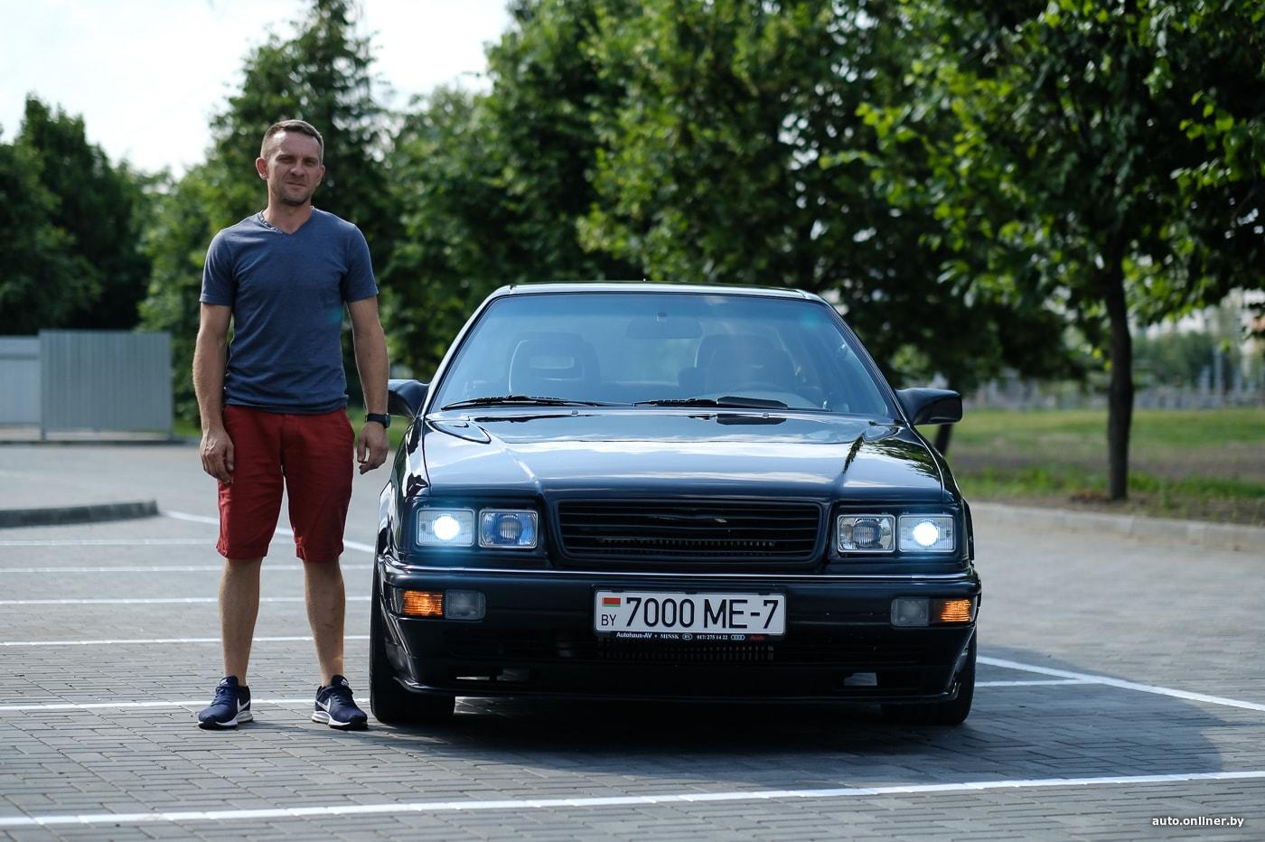 Франкенштейн. Минчанин делает из Audi 200 спорткар с 400-сильным мотором и оптикой от Neoplan (23 фото)
