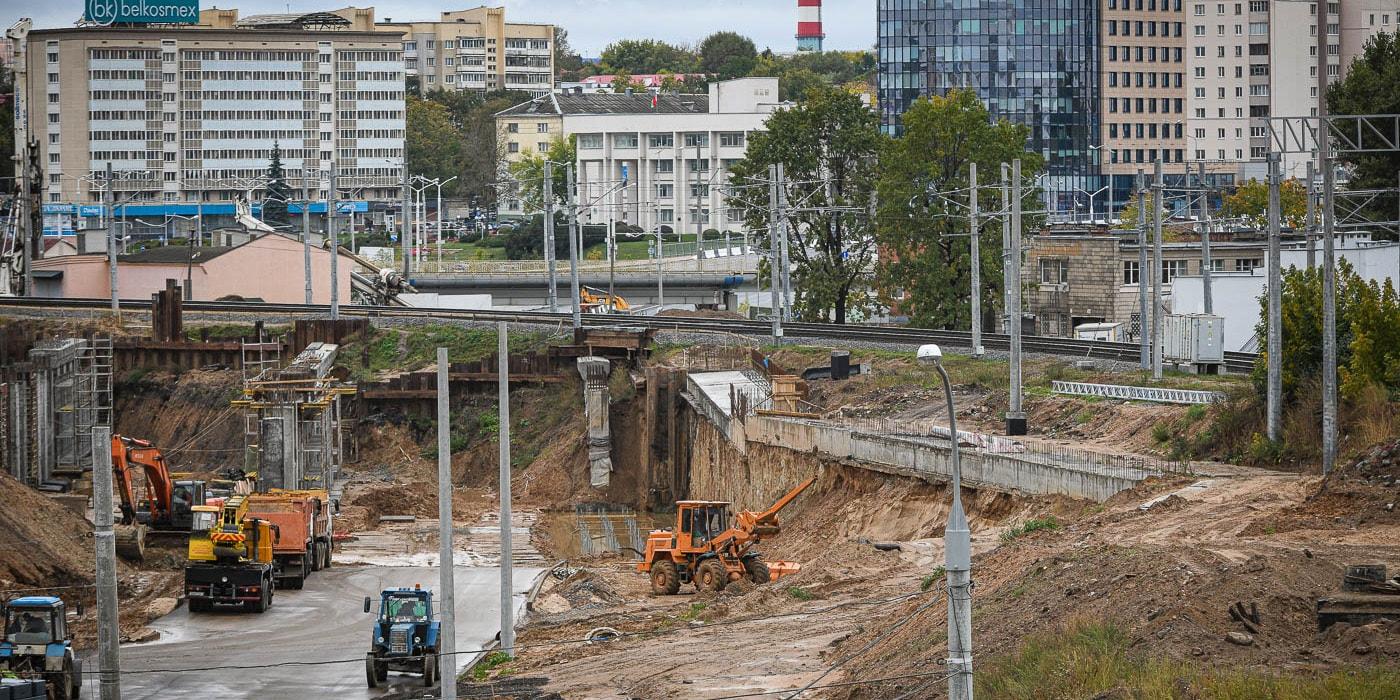 Подсмотрели, как идет строительство первого кольца в районе Дзержинского