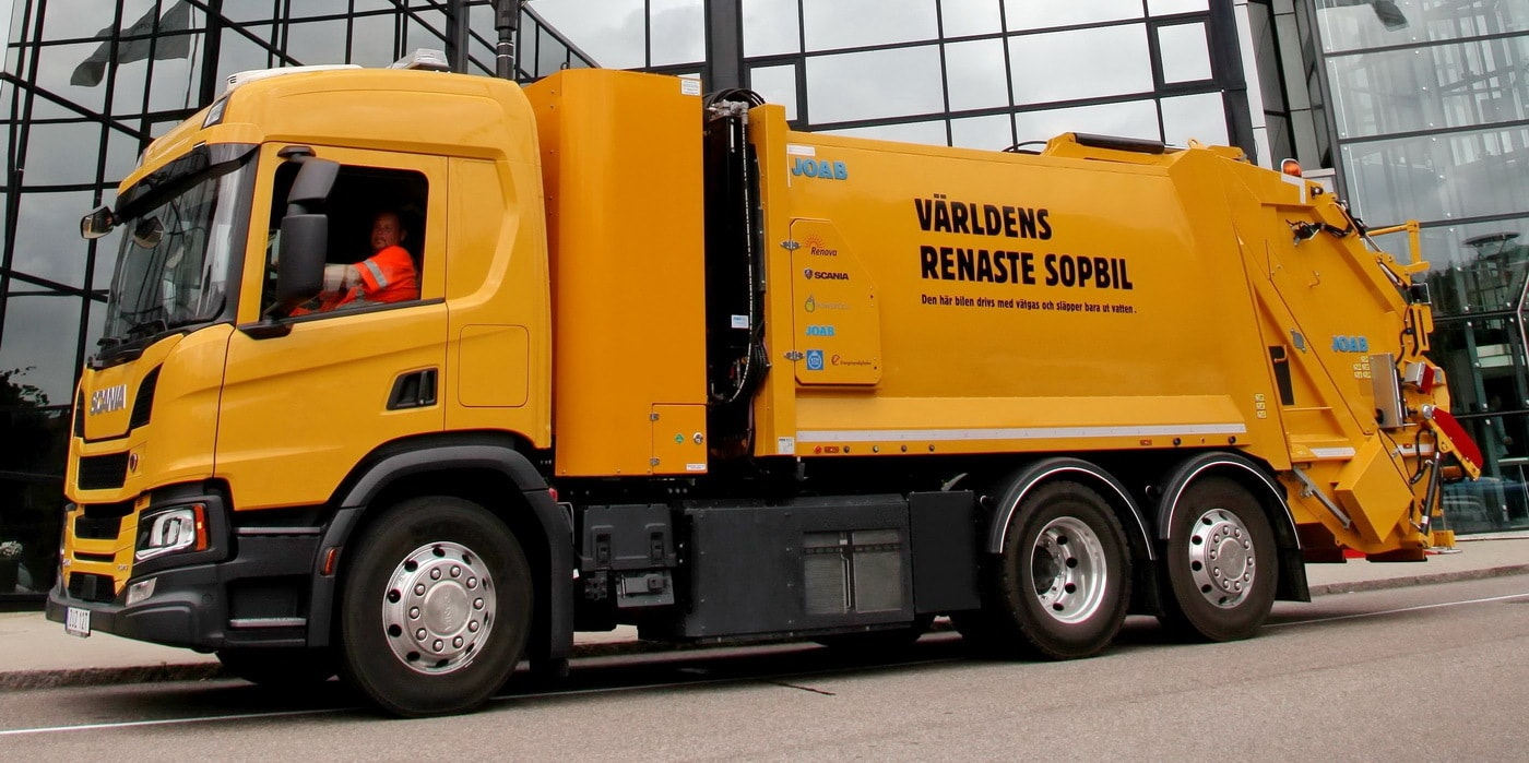 Водородный мусоровоз Scania приступил к работе в вотчине Volvo