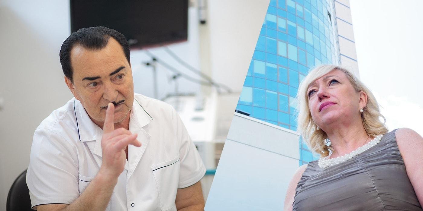 «Невозможно вдохнуть даже каплю воздуха!» Лор-хирург и пациентка — о том, как «вернуть нос»(спецпроект)