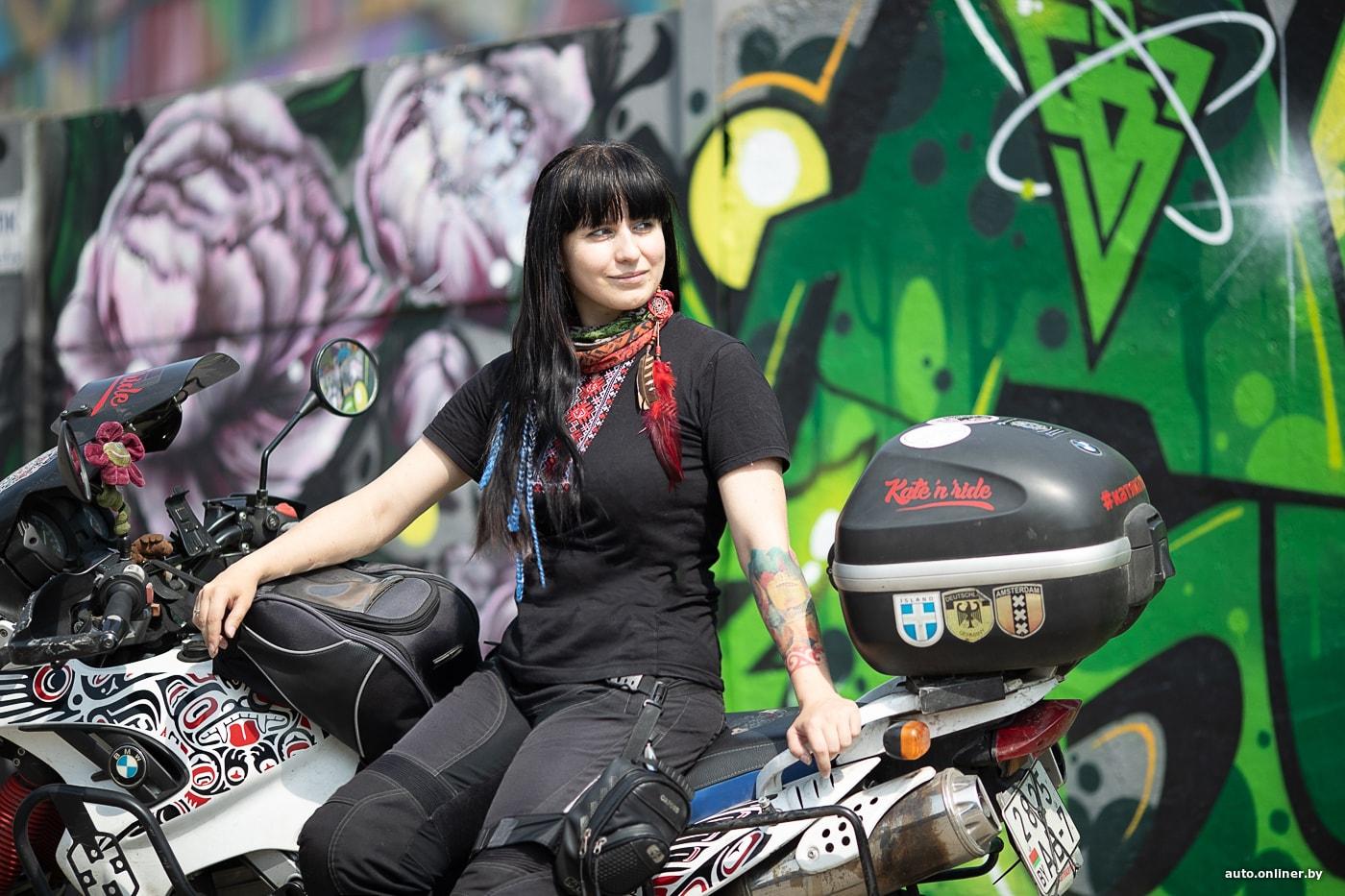 Катя катит. Минчанка первой из белорусок собирается совершить женское кругосветное путешествие на мотоцикле (25 фото)