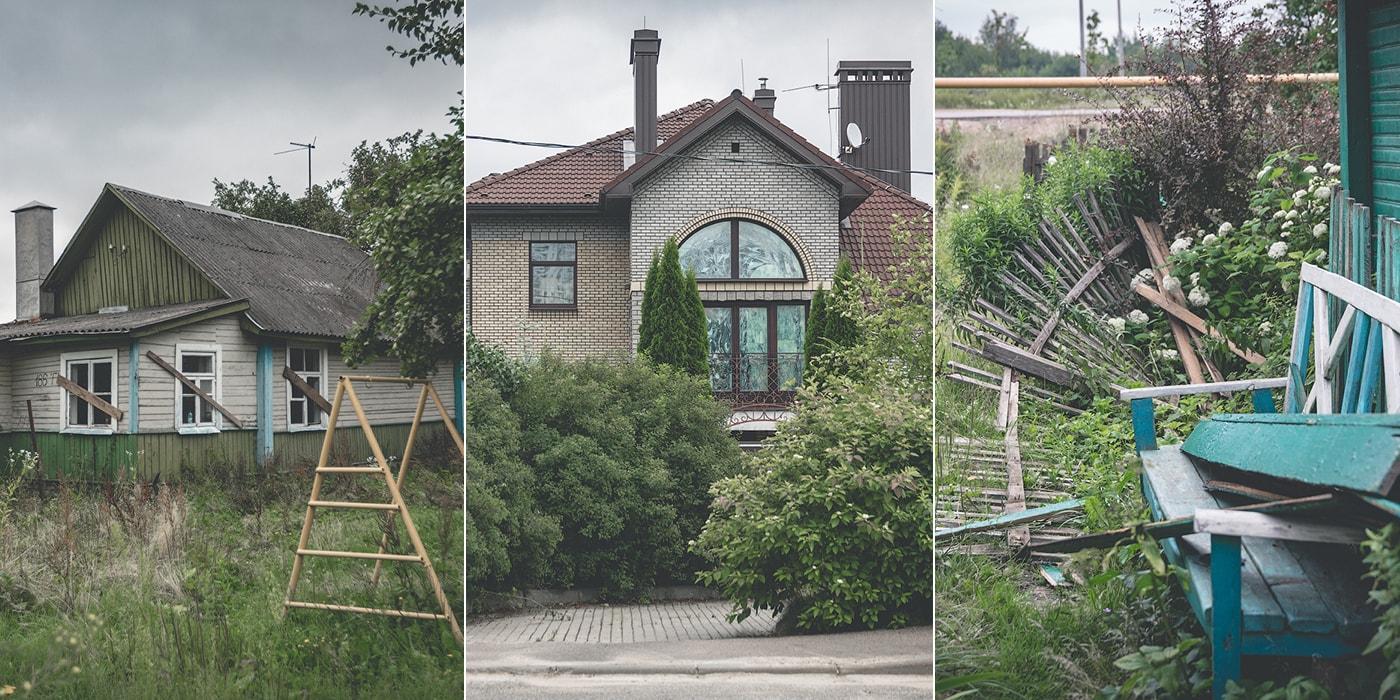 Три десятка отселенных домов и особняк за «сумасшедшие деньги». Репортаж из деревни-призрака в черте Минска (31 фото)