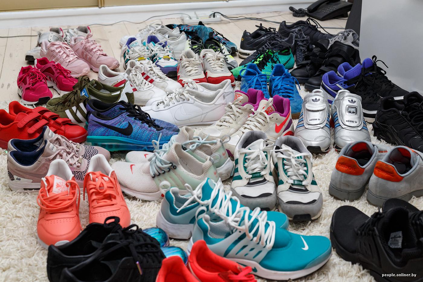 0357e9ae На данный момент у меня 58 пар кроссовок, не считая тренировочной обуви.  Коллекция постоянно видоизменяется. Что-то я занашиваю, что-то продаю.